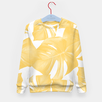 Thumbnail image of Monstera Leaves Yellow Summer Vibes Pattern #1 #tropical #decor #art Kindersweatshirt, Live Heroes