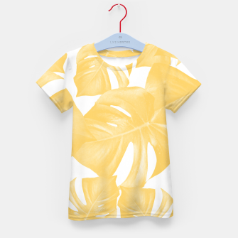 Thumbnail image of Monstera Leaves Yellow Summer Vibes Pattern #1 #tropical #decor #art T-Shirt für kinder, Live Heroes