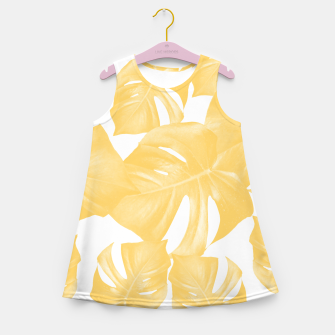 Thumbnail image of Monstera Leaves Yellow Summer Vibes Pattern #1 #tropical #decor #art Mädchen-Sommerkleid, Live Heroes