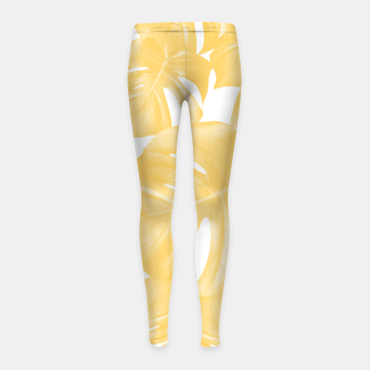 Thumbnail image of Monstera Leaves Yellow Summer Vibes Pattern #1 #tropical #decor #art Kinder-Leggins, Live Heroes