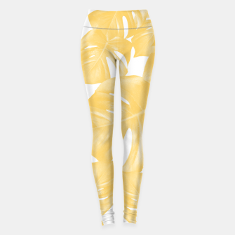 Thumbnail image of Monstera Leaves Yellow Summer Vibes Pattern #1 #tropical #decor #art Leggings, Live Heroes