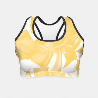 Thumbnail image of Monstera Leaves Yellow Summer Vibes Pattern #1 #tropical #decor #art Crop Top, Live Heroes