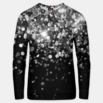 Thumbnail image of Silver Gray Black Glitter #3 (Faux Glitter - Photography) #shiny #decor #art Unisex sweatshirt, Live Heroes