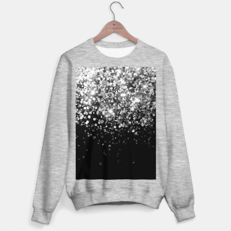 Thumbnail image of Silver Gray Black Glitter #3 (Faux Glitter - Photography) #shiny #decor #art Sweatshirt regulär, Live Heroes