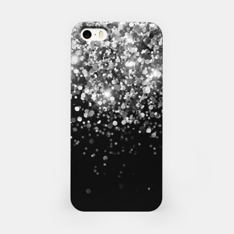 Thumbnail image of Silver Gray Black Glitter #3 (Faux Glitter - Photography) #shiny #decor #art iPhone-Hülle, Live Heroes