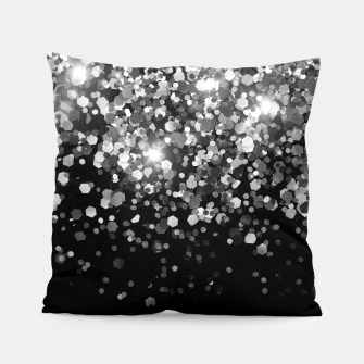 Thumbnail image of Silver Gray Black Glitter #3 (Faux Glitter - Photography) #shiny #decor #art Kissen, Live Heroes