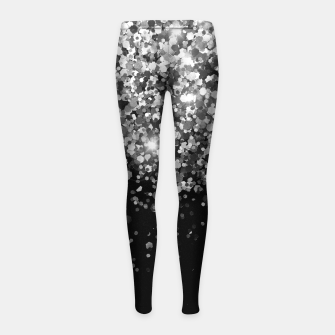 Thumbnail image of Silver Gray Black Glitter #3 (Faux Glitter - Photography) #shiny #decor #art Kinder-Leggins, Live Heroes