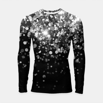Thumbnail image of Silver Gray Black Glitter #3 (Faux Glitter - Photography) #shiny #decor #art Longsleeve rashguard, Live Heroes