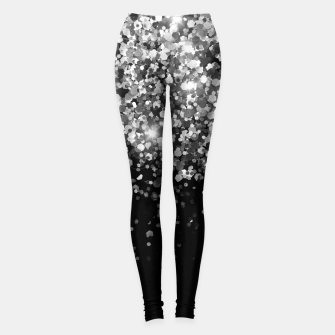Thumbnail image of Silver Gray Black Glitter #3 (Faux Glitter - Photography) #shiny #decor #art Leggings, Live Heroes