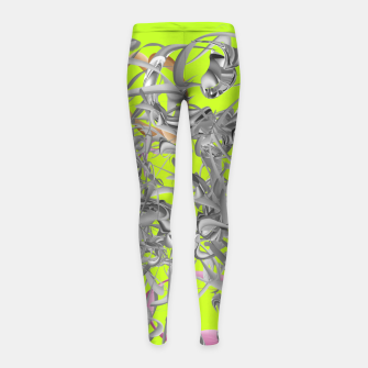 Thumbnail image of organicflow Girl's leggings, Live Heroes