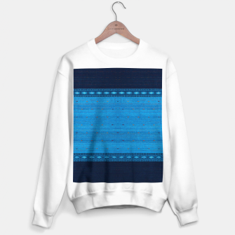Thumbnail image of Ocean Blue & Indigo Blue North Moroccan Oriental Style Fabric Sweater regular, Live Heroes