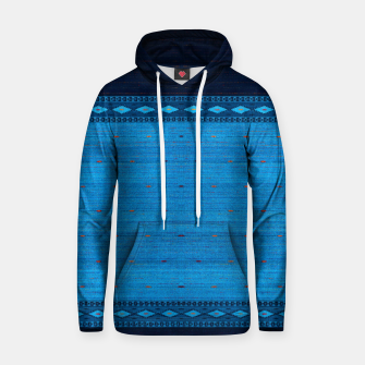Thumbnail image of Ocean Blue & Indigo Blue North Moroccan Oriental Style Fabric Hoodie, Live Heroes