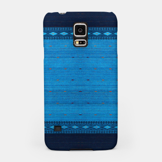 Thumbnail image of Ocean Blue & Indigo Blue North Moroccan Oriental Style Fabric Samsung Case, Live Heroes