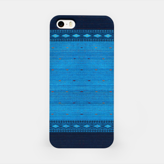 Thumbnail image of Ocean Blue & Indigo Blue North Moroccan Oriental Style Fabric iPhone Case, Live Heroes
