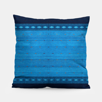 Thumbnail image of Ocean Blue & Indigo Blue North Moroccan Oriental Style Fabric Pillow, Live Heroes
