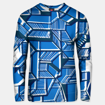 Thumbnail image of Blue Geometric abstract art Unisex sweater, Live Heroes