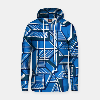 Thumbnail image of Blue Geometric abstract art Hoodie, Live Heroes