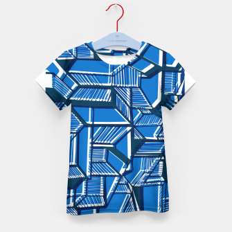 Thumbnail image of Blue Geometric abstract art Kid's t-shirt, Live Heroes