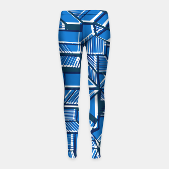 Thumbnail image of Blue Geometric abstract art Girl's leggings, Live Heroes