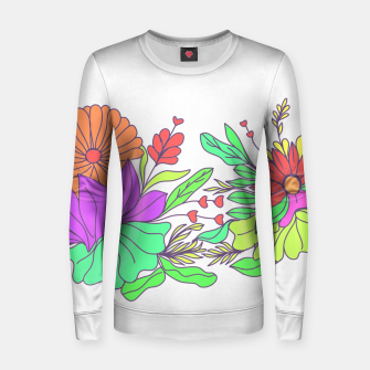 Thumbnail image of Floral tropical illustration Women sweater, Live Heroes