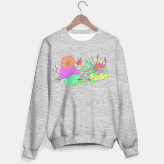 Thumbnail image of Floral tropical illustration Sweater regular, Live Heroes