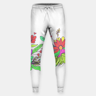 Thumbnail image of Floral tropical illustration Sweatpants, Live Heroes