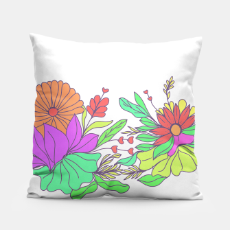 Thumbnail image of Floral tropical illustration Pillow, Live Heroes