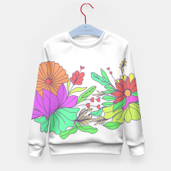 Thumbnail image of Floral tropical illustration Kid's sweater, Live Heroes
