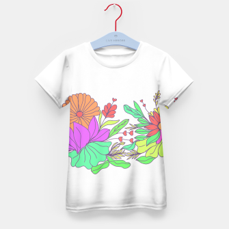 Thumbnail image of Floral tropical illustration Kid's t-shirt, Live Heroes