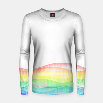 Thumbnail image of Rainbow love colourful minimal Women sweater, Live Heroes