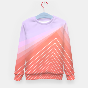 Thumbnail image of Linear geometric minimal Kid's sweater, Live Heroes
