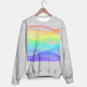 Thumbnail image of Rainbow love colourful minimal Sweater regular, Live Heroes
