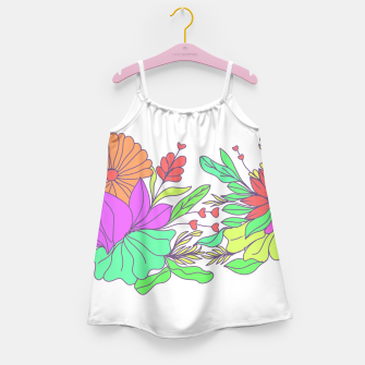 Thumbnail image of Floral tropical illustration Girl's dress, Live Heroes