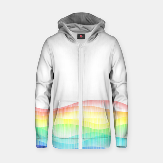 Thumbnail image of Rainbow love colourful minimal Zip up hoodie, Live Heroes