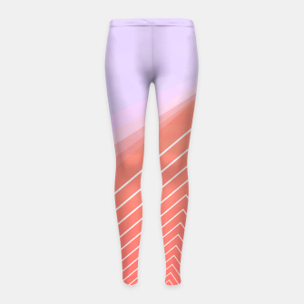 Thumbnail image of Linear geometric minimal Girl's leggings, Live Heroes