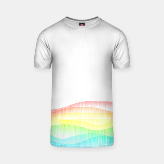 Thumbnail image of Rainbow love colourful minimal T-shirt, Live Heroes