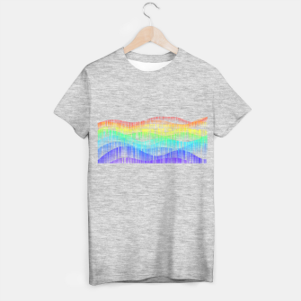 Thumbnail image of Rainbow love colourful minimal T-shirt regular, Live Heroes