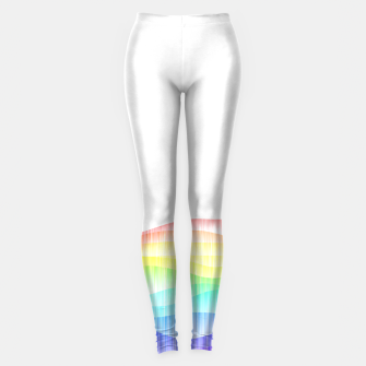 Thumbnail image of Rainbow love colourful minimal Leggings, Live Heroes