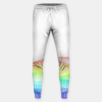 Thumbnail image of Rainbow love colourful minimal Sweatpants, Live Heroes