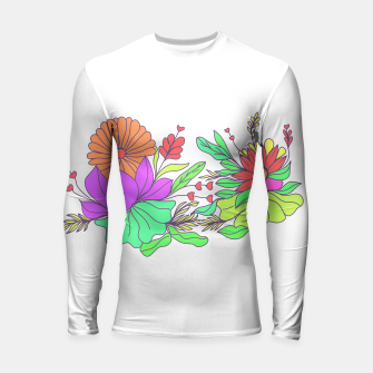 Thumbnail image of Floral tropical illustration Longsleeve rashguard , Live Heroes