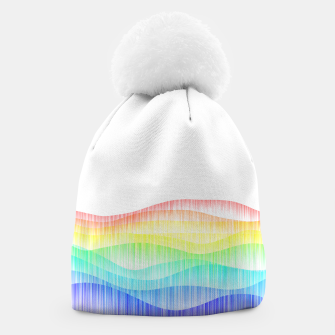 Thumbnail image of Rainbow love colourful minimal Beanie, Live Heroes