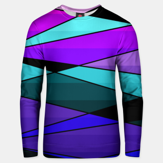 Miniatur Abstract, geometric pattern, pink , turquoise , blue Unisex sweater, Live Heroes