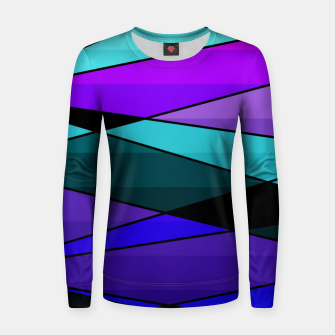 Miniatur Abstract, geometric pattern, pink , turquoise , blue Women sweater, Live Heroes