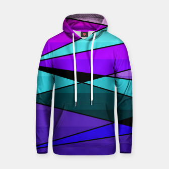 Miniatur Abstract, geometric pattern, pink , turquoise , blue Hoodie, Live Heroes