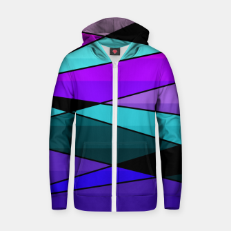 Miniatur Abstract, geometric pattern, pink , turquoise , blue Zip up hoodie, Live Heroes