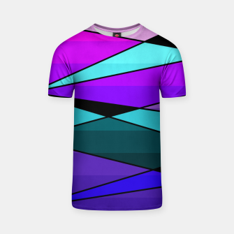 Miniatur Abstract, geometric pattern, pink , turquoise , blue T-shirt, Live Heroes
