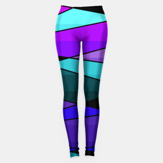 Miniatur Abstract, geometric pattern, pink , turquoise , blue Leggings, Live Heroes