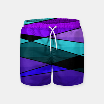Miniatur Abstract, geometric pattern, pink , turquoise , blue Swim Shorts, Live Heroes
