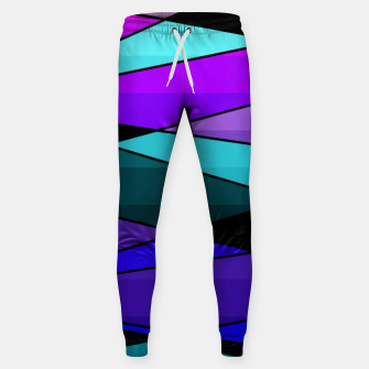 Miniatur Abstract, geometric pattern, pink , turquoise , blue Sweatpants, Live Heroes