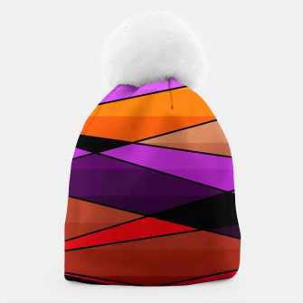 Miniatur Abstract, geometric pattern, pink , turquoise , blue Beanie, Live Heroes